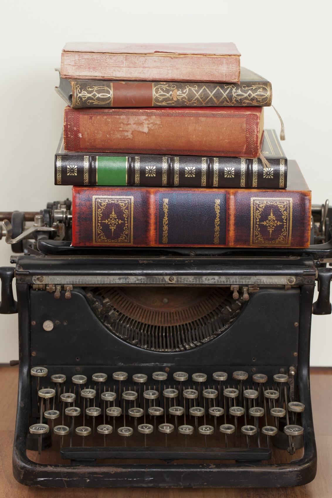 vintage typewriter books